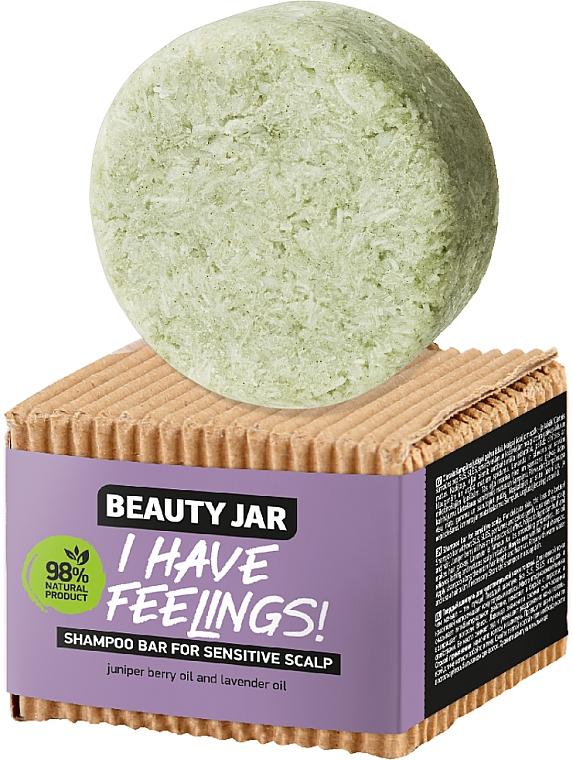 Champú sólido para cabello y cuero cabelludo sensible con aceite de lavanda - Beauty Jar I Have Feelings