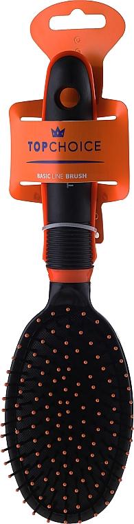 Cepillo para cabello 2465, negro y naranja - Top Choice