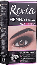 Perfumería y cosmética Tinte en crema para cejas y pestañas - Revia Eyebrows Henna