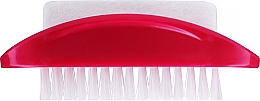 Perfumería y cosmética Cepillo de limpieza para uñas y manos con piedra pómez, color frambuesa - Konex Two-sided Foot And Toenail Brush With Rough Pumice