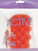 Perfumería y cosmética Esponja de baño exfoliante hipoalergénica, naranja - Suavipiel Active Esponja Extra Peeling
