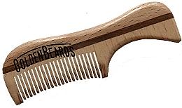 Perfumería y cosmética Peine artesanal de madera para bigote, 9,5cm - Golden Beards Eco Moustache Comb