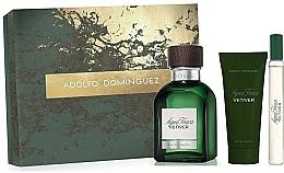 Perfumería y cosmética Adolfo Dominguez Agua Fresca Vetiver - Set (eau de toilette/120ml + bálsamo aftershave/75ml + eau de toilette/mini/20ml)