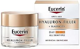 Perfumería y cosmética Crema facial antienvejecimiento con ácido hialurónico - Eucerin Anti-Age Elasticity+Filler Day Cream SPF 30