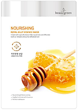 Perfumería y cosmética Mascarilla facial de tejido con extracto de jalea real - BeauuGreen Nourishing Royal Jelly Essence Mask
