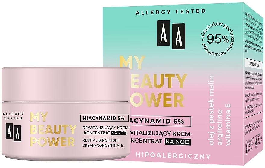 Crema concentrada de noche con 5% niacinamidas y vitamina E - AA My Beauty Power Niacynamid 5% Revitalizing Night Cream-Concentrate