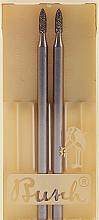 Perfumería y cosmética Fresa de zafiro, 45-510, L4,4cm, D.0,2cm, 2uds. - Alessandro International Frez Saphir Cuticula