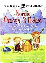 Perfumería y cosmética Complemento alimenticio para niños Omega 3, 300 mg - Nordic Naturals Fishies Yummy Tutti Frutti