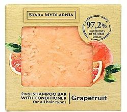 Perfumería y cosmética Champú acondicionador sólido 2en1 con extracto de pomelo - Stara Mydlarnia Grapefruit 2in1 Shampoo Bar