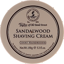 Perfumería y cosmética Crema de afeitar con aroma a sándalo - Taylor of Old Bond Street Sandalwood Shaving Cream Bowl