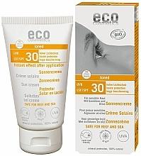 Perfumería y cosmética Crema solar eco resistente al agua con aceite de espino amarillo efecto bronceado, SPF 30 - Eco Cosmetics Sonne SLF 30 Getoent