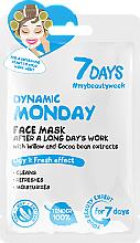 Perfumería y cosmética Mascarilla facial con extracto de sauce y cacao - 7 Days Dynamic Monday