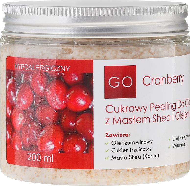 Exfoliante corporal de azúcar con manteca de karité y aceite de arándano - GoCranberry — imagen N2