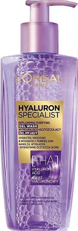 Gel de limpieza facial con ácido hialurónico - L'Oreal Paris Hyaluron Expert