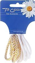 Perfumería y cosmética Goma de pelo, White Collection, blanco - Top Choice