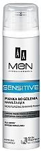 Perfumería y cosmética Espuma de afeitar con extracto de aloe vera - AA Men Sensitive Moisturizing Shaving Foam