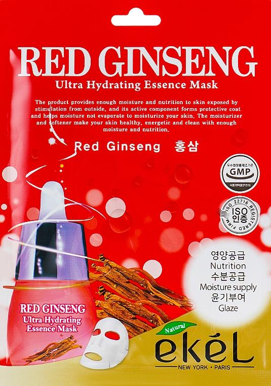 Mascarilla facial de tejido hidratante con extracto de ginseng rojo - Ekel Red Ging Seng Ultra Hydrating Essence Mask