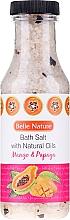 Perfumería y cosmética Sales de baño con aroma a mango & papaya - Belle Nature Bath Salt