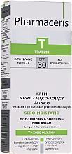Perfumería y cosmética Crema facial hidratante antiacné con extracto de salvia - Pharmaceris T Sebo-Moistatic Cream SPF30