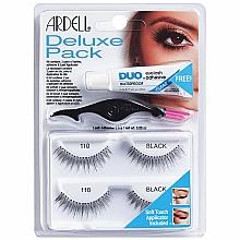 Perfumería y cosmética Pestañas postizas con aplicador y pegamento incluido - Ardell Deluxe Pack 110 Black