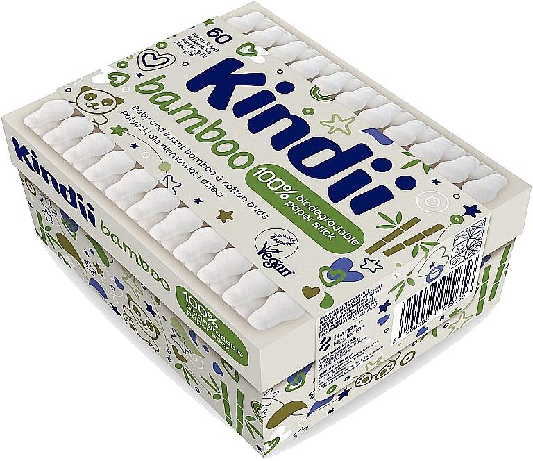 Bastoncillos de algodón para bebés y niños - Kindii Bamboo Cotton Buds