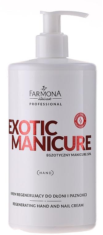Crema de manos regeneradora con aceites de coco & almendras dulces - Farmona Exotic Manicure SPA