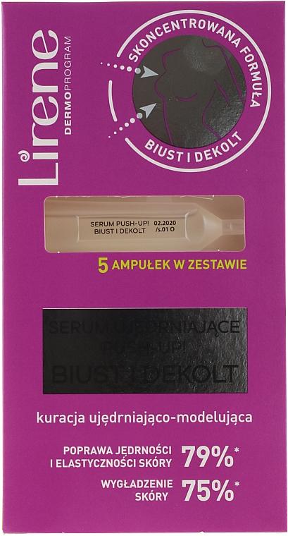 Sérum para busto con proteínas vegetales y extracto de flor de canguro en ampollas - Lirene Firming Serum Push-Up