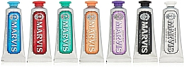 Perfumería y cosmética Set pastas dentales - Marvis Toothpaste Flavor Collection Gift Set (pastas dentales diferentes sabores/7uds.x25ml)