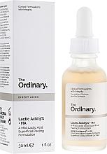 Perfumería y cosmética Sérum-peeling facial con 5% ácido láctico - The Ordinary Lactic Acid 5% + HA 2%