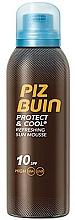 Perfumería y cosmética Mousse refrescante con protección solar, UVA/UVB, SPF10 - Piz Buin Protect & Cool Refreshing Sun Mousse SPF10