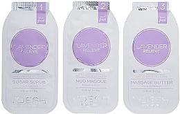 Perfumería y cosmética Tratamiento para manos y uñas con extracto de lavanda - Voesh Mani In A Box Waterless 3 Step Lavander Relieve