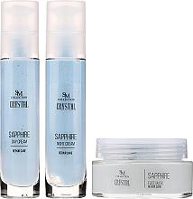 Perfumería y cosmética SM Collection Crystal Sapphire - Set reparador de cuidado facial (crema de día/50ml + crema de noche/50ml + mascarilla/100ml)