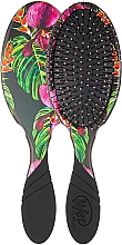 Perfumería y cosmética Cepillo de pelo con mango de goma, negro-rosa - Wet Brush Pro Detangler Neon Night Tropics