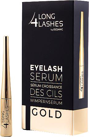 Sérum para crecimiento de pestañas con extractos de trigo y de scutellaria de baikal - Long4lashes EyeLash Gold Serum
