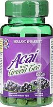 Perfumería y cosmética Complemento alimenticio de acai y té verde, en cápsulas 1500 mg - Holland & Barrett Acai Berry With Green Tea 1500mg