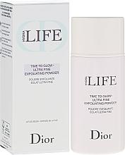Perfumería y cosmética Polvo exfoliante facial ultra fino con extracto de azúcar y semillas de loto - Dior Hydra Life Time To Glow Ultra Fine Exfoliating Powder