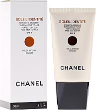 Perfumería y cosmética Tratamiento autobronceador sublimador para rostro con extracto de lirio blanco - Chanel Soleil Identite SPF 8 Intense Bronze