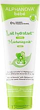 Perfumería y cosmética Leche corporal hipoalergénica para bebés con aceite de almendras dulces y algodón - Alphanova Bebe Moisturizing Milk