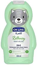 Perfumería y cosmética Gel de ducha infantil para cuerpo, cabello y rostro con aroma frutal - On Line Le Petit Fruit Jellies 3 In 1 Hair Body Face Wash