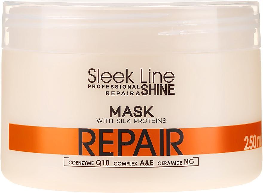 Mascarilla capilar reparadora con proteínas de seda, coenzima Q10 y ceramidas - Stapiz Sleek Line Repair Hair Mask