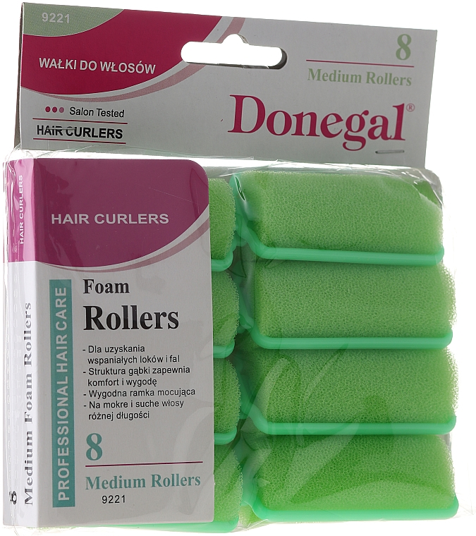 Rulos de espuma 25 mm, 8 uds. - Donegal Sponge Curlers
