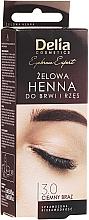 Perfumería y cosmética Tinte gel para cejas y pestañas, marrón oscuro - Delia Eyebrow Tint Gel ProColor 3.0 Dark Brown