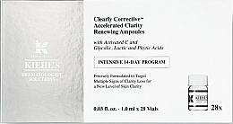 Perfumería y cosmética Ampollas faciales iluminadoras con ácidos glicólico, láctico y fítico - Kiehl`s Clearly Corrective Accelerated Clarity Renewing Ampoules