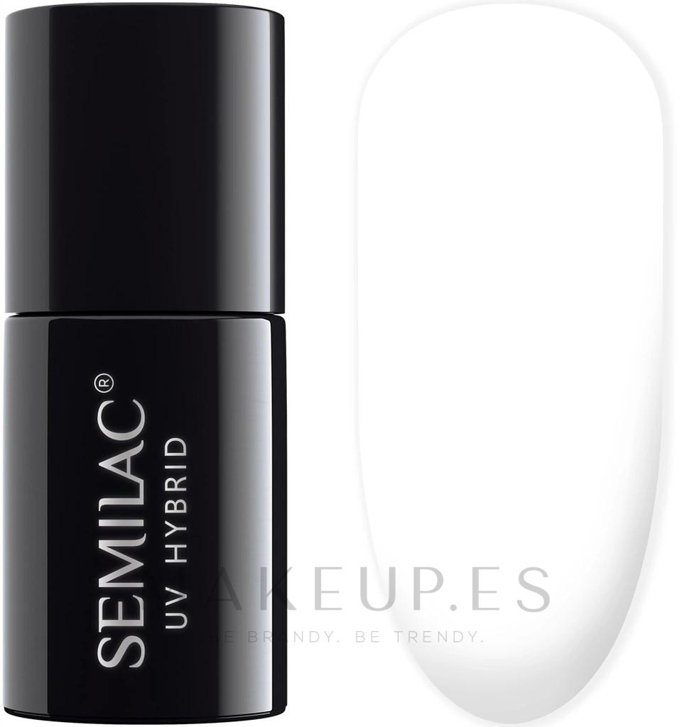 Esmalte gel de uñas híbrido, UV - Semilac Blooming Effect UV Hybrid Nail Polish — imagen 632 - White