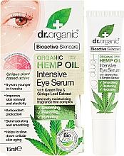 Perfumería y cosmética Sérum para contorno de ojos con aceite de cáñamo y té verde - Dr. Organic Bioactive Skincare Hemp Oil Intensive Eye Serum