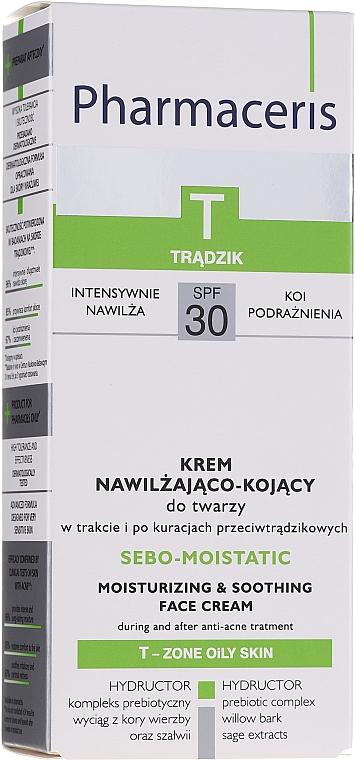 Crema facial hidratante antiacné con extracto de salvia - Pharmaceris T Sebo-Moistatic Cream SPF30