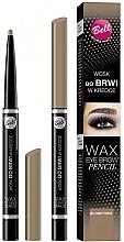 Perfumería y cosmética Cera de cejas en lápiz con aceite de semilla de ricino - Bell Wax Eye Brow Pencil