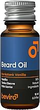 Perfumería y cosmética Aceite natural de barba con aroma a vainilla, haba tonka y palo santo - Beviro Beard Oil Honkatonk Vanilla