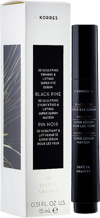 Sérum contorno de ojos con extractos de avena & lonicera - Korres 3D Black Pine Super Eye Serum Sculpting, Firming & Lifting