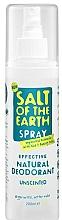 Perfumería y cosmética Desodorante spray de cristal con alumbre de potasio natural - Salt of the Earth Natural Deodorant Spray